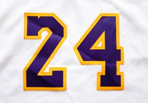 Kobe Bryant numbr 24 home jersey white