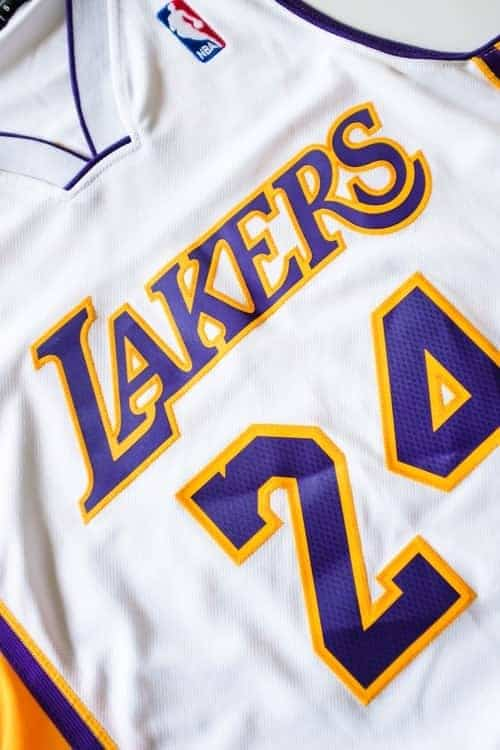 Front of Kobe Bryant Jersey home white