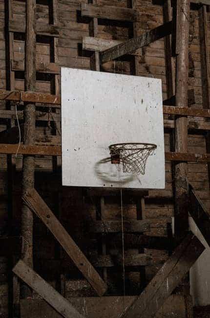 Old barn basketball hoop