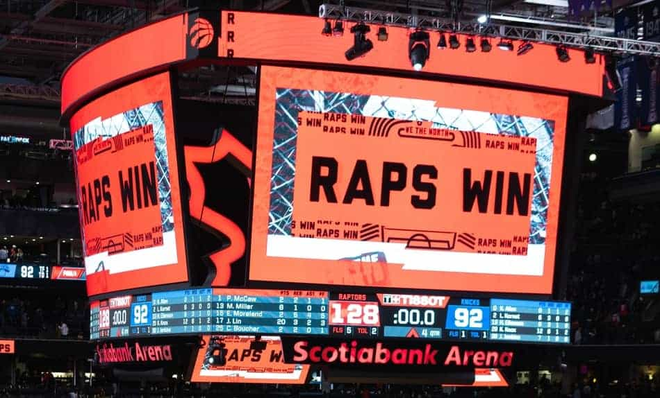 Toronto Rptors Scoreboard In Arena