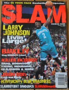 Larry Johnson on the Cover of 92 Slam Magazine in