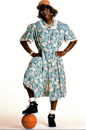 Larry in Grandmama Costume