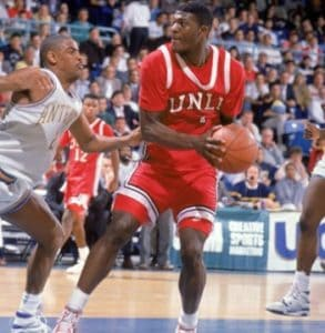 Larry Johnson playing basketball for UNLV
